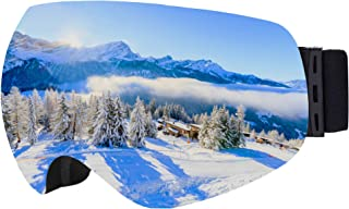 OTG Ski & Snowboard Goggles - Frameless Dual-Layer Lens Snow Glasses for Skiing, Snowboarding, Motorcycling & Winter Sports - Anti-Fog & Helmet Compatible - UV400 Protection - Fits Men, Women & Youth