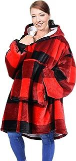 Blanket Sweatshirt, Super Soft Warm Comfortable Sherpa Hoodie with Giant Pocket, for Adults, Kids, Boys, Girls, Reversible, Hood, Oversized
