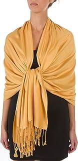 Sakkas 78 x 28 Eco-Friendly Bamboo Rayon Soft Solid Pashmina Schal/Stola 12 Solid Farben