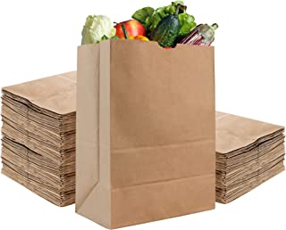 Stock Your Home - Bolsas de papel kraft marrón de 22 kilos (100 unidades) – Bolsas de papel kraft marrón – Bolsas grandes ...