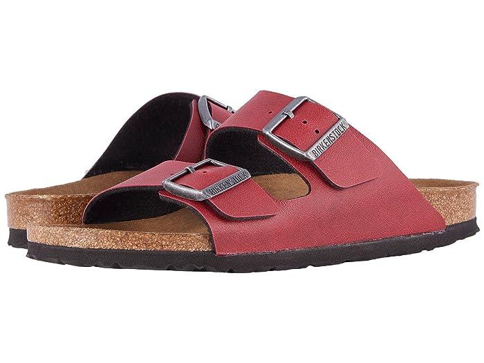 Birkenstock  Arizona (Bordeaux Pull Up) Shoes