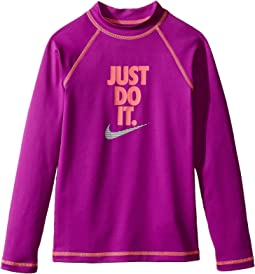 Just Do It Long Sleeve Hydroguard Top (Big Kids)