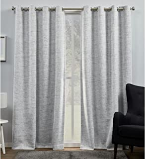 Exclusive Home Curtains Burke Blackout Grommet Top Curtain Panel Pair 52x96 EH8461-03-2-96G