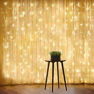 6 * 3M Twinkle Star 600 LED Window Curtain String Lights Ramadan Gift Wedding Party Garden Bedroom Indoor Outdoor Wall Dec...