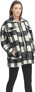 Women's Oversized Long Sherpa Trucker Jacket (Standard and Plus Sizes)
