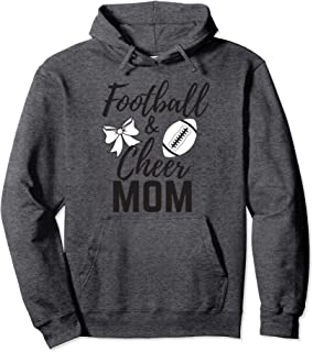 Funny Sports Graphic Womens Football and Cheer Mom Shirts Pullover Hoodie