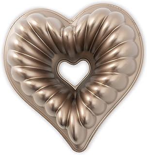NordicWare 55548 Moule à gâteau Elegant Heart, Fonte d'Aluminium