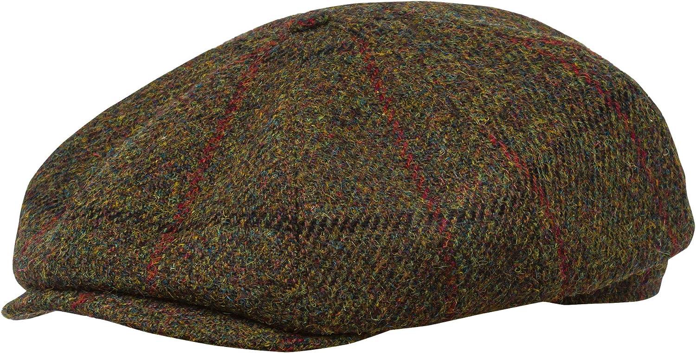 Sterkowski Shelby Cap | 100% Harris Tweed Newsboy Cap for Men | 8 Panel Peaky Blinders Hat