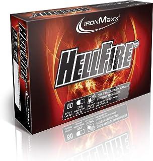 IronMaxx Hellfire TriCaps - 60 kapsułek XXL - bardzo popularne do redukcji tkanki tłuszczowej podczas treningu siłowego - ...
