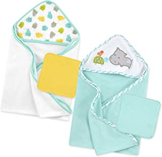 Just Born Love to Bathe Hippo Bath Set, Grey/Green