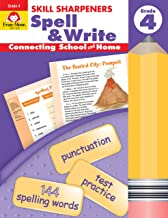 Evan-Moor Skill Sharpeners Spell & Write, Grade 4 Activity Book - Learning Enrichment Workbook for Vocabulary (Skill Sharpeners: Spell & Write)