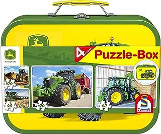 Schmidt Spiele - 56497 - John Deere - Coffret de Puzzles - 2 x 60 - 2 x 100 pièces