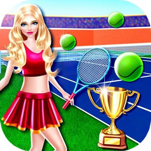 Champion-Tennis-Mädchen-Spiele