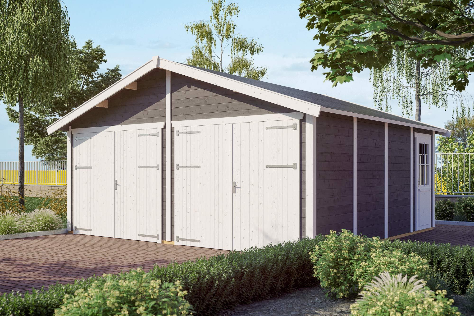 Skan Holz Visby 3 - Garaje (28 mm), Color Gris: Amazon.es: Jardín