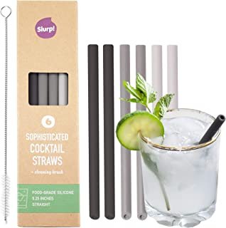 Best black silicone straws Reviews