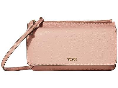 Tumi Belden Wallet Crossbody (Blush) Handbags