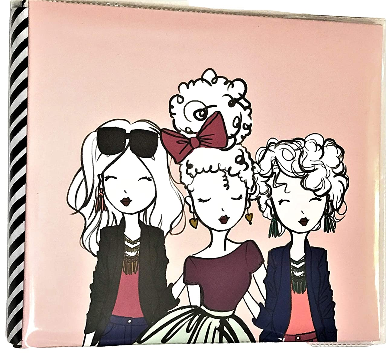 Elle Oh Elle Pre-Designed Pages 8 x 8 Pink Pretty Girls Photo Album,Just Add Photos, Best Friends,Gift