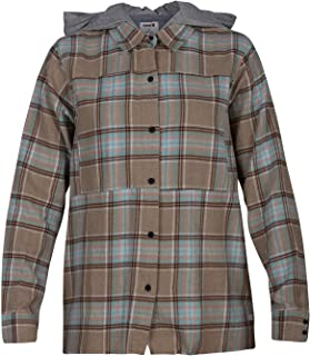 Women's Plaid Collared Long Sleeve Button Down Shirt