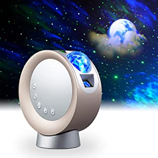 LITENERGY LED Sky Sky Projector Light، Galaxy Lighting، Nebula Star Night Lamp with Base and Remote Control for Gaming Room، Home Theater، Bedroom، or Mood Ambient (Gold)
