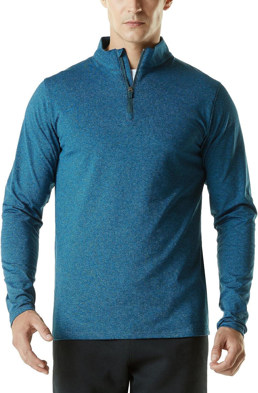 TMYKZ01PBL_XLarge Tesla Men's Winterwear Sporty Slim Fit 1 4 Zip Fleece Lining Sweatshirt YKZ01