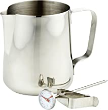 Davis & Waddell D8023 Leaf & Bean Stainless Steel Milk Frothing Jug and Thermometer Set