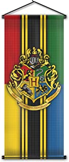 Harry Potter Style Striped Banner - Hogwarts Flag 43in x 16in - High Quality Wall Scroll - Ready to Hang - Perfect Barware Man Cave Gift - Unique HP Collectible Accessories