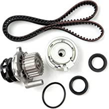 ECCPP Timing Belt Water Pump Kit Fit for 1999 2000 2001 2002 2003 2004 2005 Volkswagen Jetta 2.0L L4 SOHC 8 Valve ENG.Code AEG AVH AZG BEV