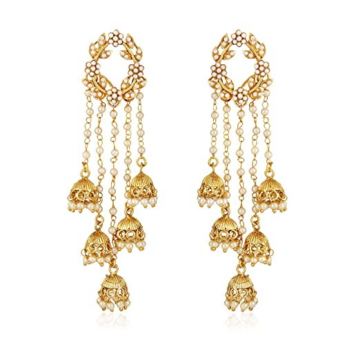 f42b8654d4ae28 Shining Diva Fashion 5 Latest Designs High Quality Stylish Party Wear  Traditional Pearl Jhumki Earrings For