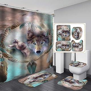 Wolf gift Wolf gifts Wolf bath mat Bath rug Wolves bathroom rug Shower mat Bathroom mat Wolf decor howling wolf bath mats