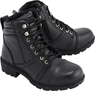 """M-BOSS APPAREL-Women's 6"""" Accelerator Leather Motorcycle Boots"""