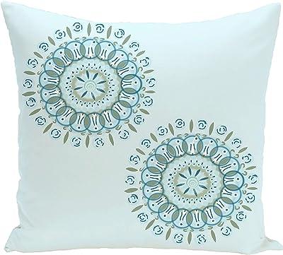 18 x 18 E by design PFN347YE2-18 el girasol Feliz Flower Print Pillow Yellow