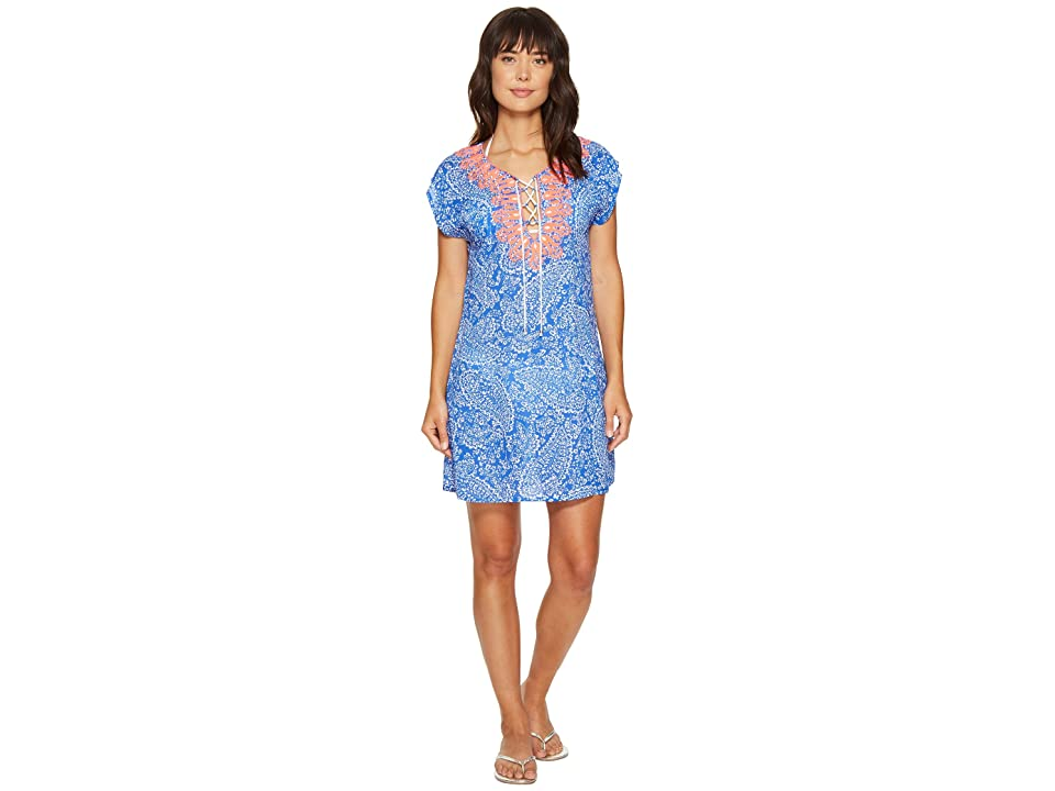 Nautica Cottage Paisley Tunic Cover-Up (Azure) Women