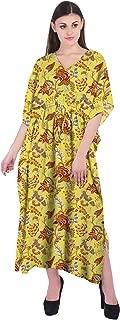 RADANYA Floral Women's Kaftan 3/4 Sleeve Summer Beachwear Cover Up Dress