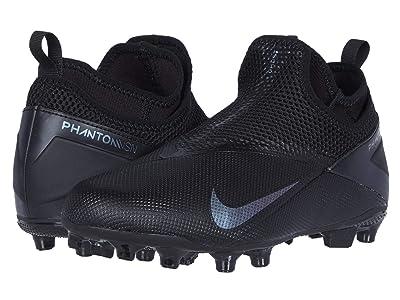 Nike Kids JR Phantom VSN 2 Academy DF FG/MG (Little Kid/Big Kid) (Black/Black) Kids Shoes