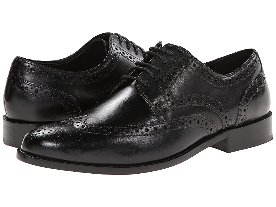 1920s Style Mens Shoes | Peaky Blinders Boots Nunn Bush Nelson Wing Tip Dress Casual Oxford Black Mens Dress Flat Shoes $85.00 AT vintagedancer.com