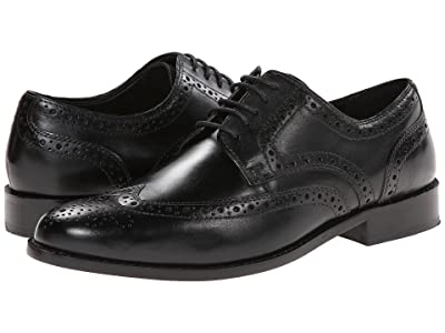 Nunn Bush Nelson Wing Tip Dress Casual Oxford (Black) Men