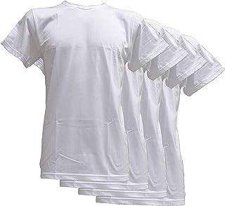 Fontana Calze & Intimo 4 Magliette Manica Corta Scollo Tondo in Jersey di Puro Cotone, Comfort e freschezza sulla Pelle