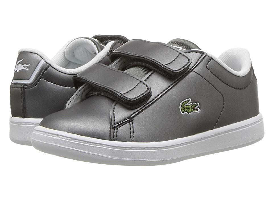 Lacoste Kids Carnaby Evo HL (Toddler/Little Kid) (Gunmetal/White) Kids Shoes
