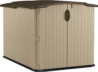 Suncast BMS4900 98 cu. ft. Glidetop Horizontal Storage Shed - Brown