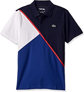 Lacoste Mens Sport Short Sleeve Color Block Cotton Polo Shirt