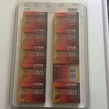 TDK DVC Mini DV Digital Video Cassette 60 Minute - 10 Pack
