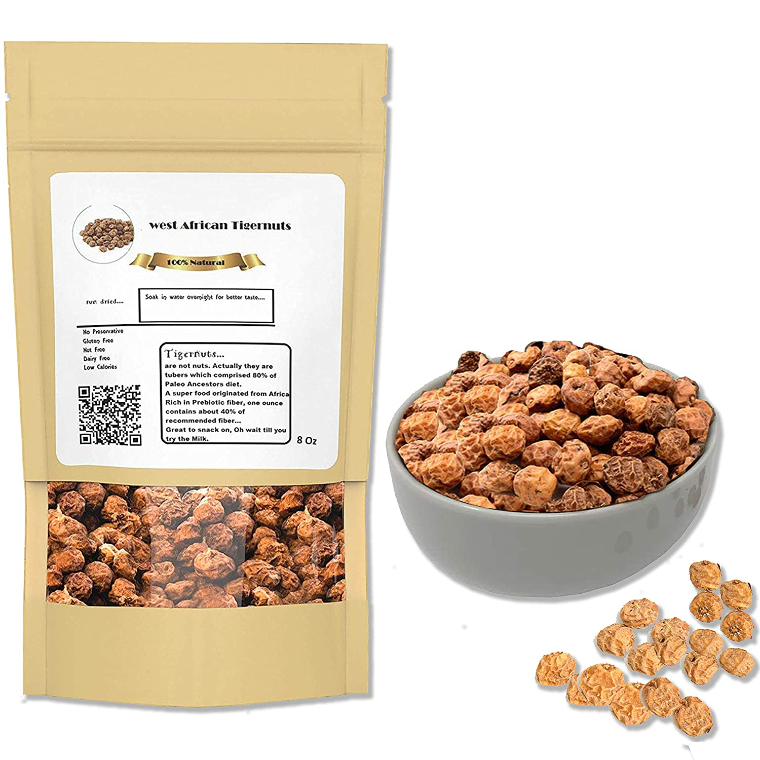 West African Tiger Max 75% OFF Nuts I Whole RawTigernut OZ for 8 Keto Diet outlet O