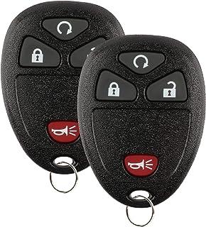 2x KeylessOption Remote Key Fob for GM (15913421, 20868672, OUC60270)