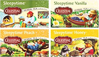 Celestial Seasonings Sleepytime Assorted Tea Bundle: (1) Sleepytime Classic, (1) Sleepytime Vanilla, (1) Sleepytime Peach,...
