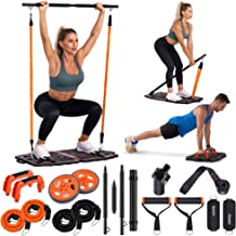 Gonex Portable Home Gym Workout Equipment with 10 Exercise Accessories Ab Roller Wheel,Elastic Resistance Bands,Push-up St...
