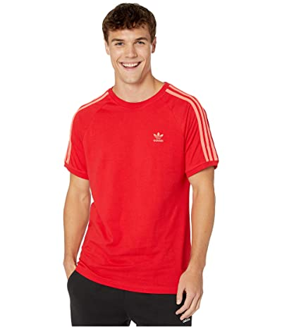 adidas Originals BLC 3-Stripes Tee (Scarlet 2) Men