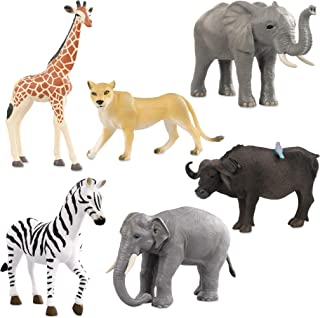 Terra by Battat – Wild Life Set – Realistic Animal Toy Figures with Elephant Toys for Kids 3+ (6 Pc)