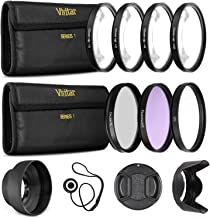 Ultrapro 55mm Professional Filter Bundle for Lenses with a 55mm Filter Size - Includes 7 Filters (UV, CPL, FL-D, 1, 2, 4, 10 Macro Close-Up Filters), Lens Hoods, More