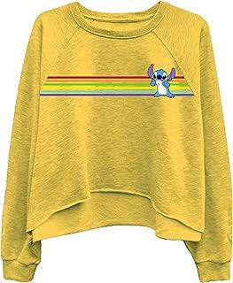 Disney Ladies Lilo and Stitch Sweatshirt - Ladies Classic Lilo and Stitch Oversized Raglan Sweatshirt