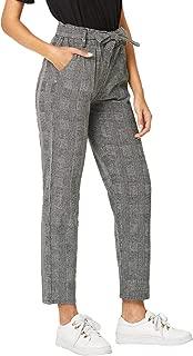 plaid ruffle pants